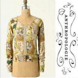 Anthro Guinevere Horticultural Cardigan Sweater S